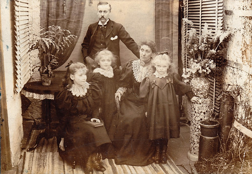 Victorian family with three girls. Ulverston, Cumbria.