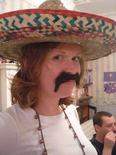 me moustache mexican sombrero
