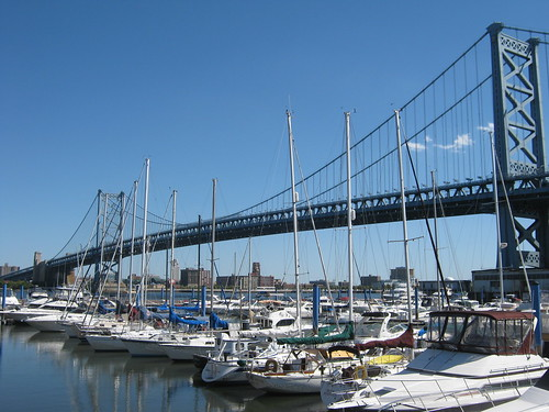 Ben Franklin Bridge and Boats