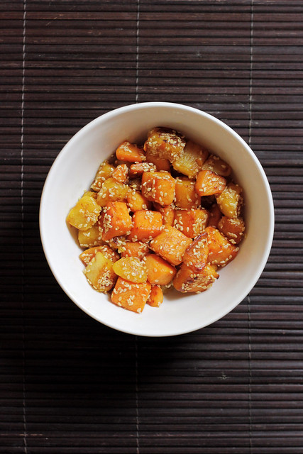 Butternut Squash with sesame seeds