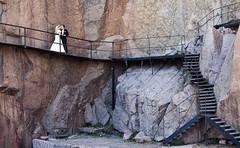 Stairways (sneaks85 - www.mortenfasseland.com) Tags: bridge wedding rock metal stone bronze stairs canon landscape bride daylight kiss couple dress ambient romantic gown bridal fjre