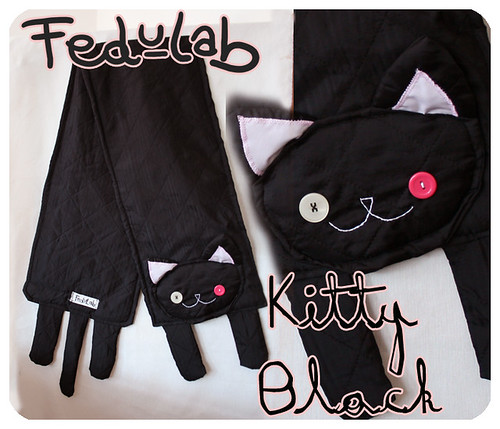Kitty Black Scarf