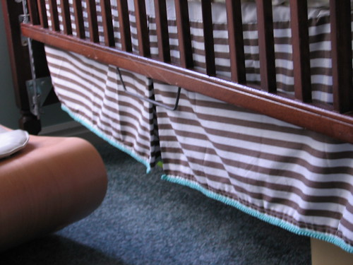 nursery - crib skirt