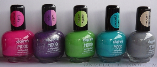 5 Claire's Mood polishes #3