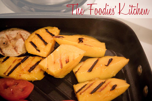 Grilled Mango with Balsamic Vinaigrette Reduction