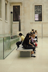 The Museum-Goers (L_) Tags: uk england london museum waiting visitors britishmuseum patrons