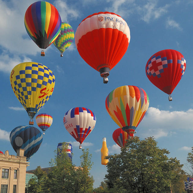 Forest Park Balloon Race, in Saint Louis, Missouri, USA