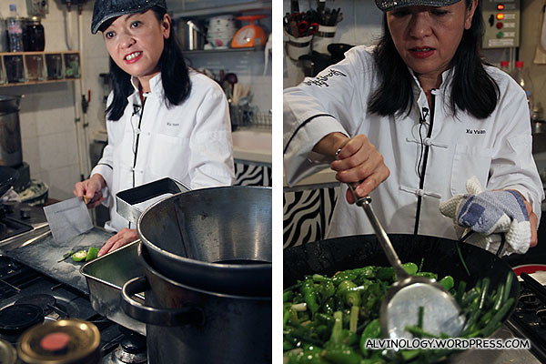 Margaret Xu's cooking demonstration