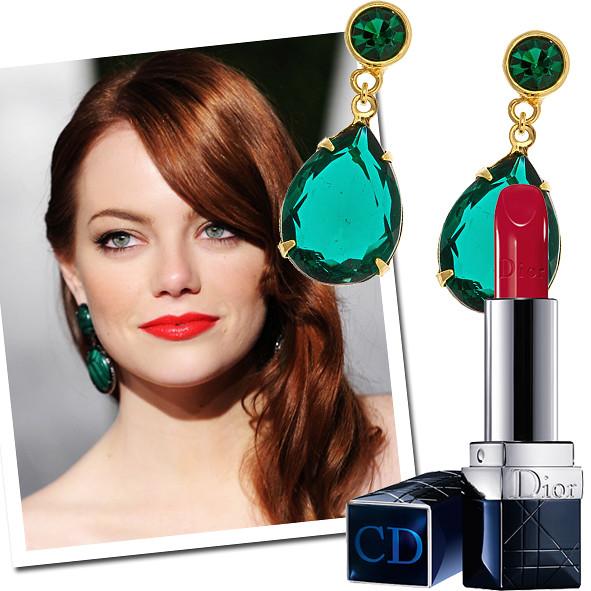 red-lips-green-earrings