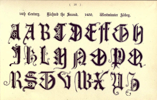 016- Siglo XIV Abadia de Westminster- The book of ornamental alphabets, ancient and mediaeval..1914-F. Delamotte