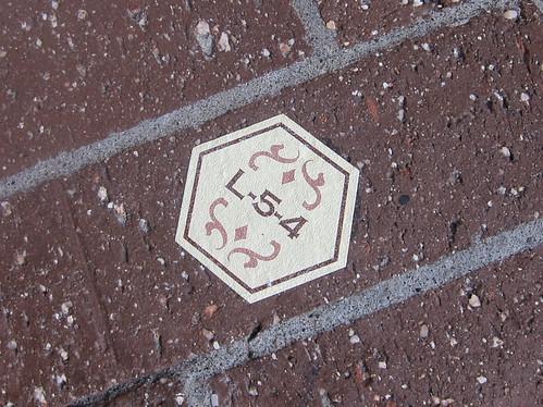 地面に位置番号