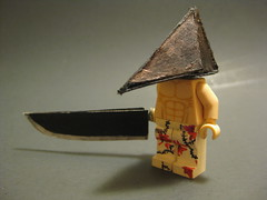 Pyramid Head (Imagination Customs) Tags: lego great knife custom butchers pyramidhead