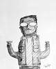 mi otro segundo yo (Cesar Cutipa) Tags: color blanco yo negro lapiz bn cesar dibujo caricatura garabato mounstro chaketa tuluz cutipa