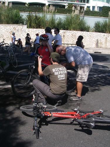 Bicycle Repair Man em acção