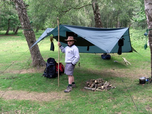 20100615 Rich and Charles Tarp Camp Broadstone