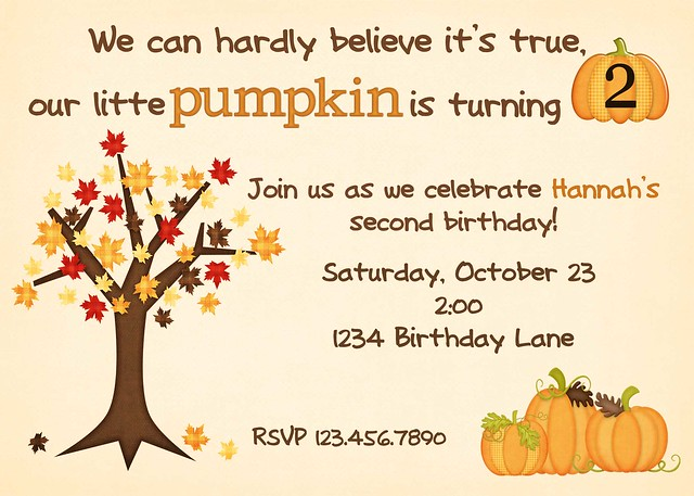 pumpkin birthday 2nd