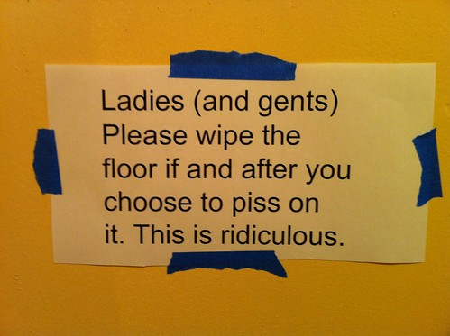 Floor piss problem