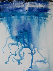 Abstract Art Watercolor - Sky Elements (Jose F. Sosa) Tags: modern artwork artist abstractart contemporary mexican american abstraction form shape impression abstractions josefsosa