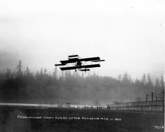 C. K. Hamilton's first flight at The Meadows, Seattle, Washington (UW Digital Collections) Tags: seattle airplane flying aircraft aviation airplanes flight takeoff firsts biplane airfield themeadows biplanes asahelcurtis ckhamilton
