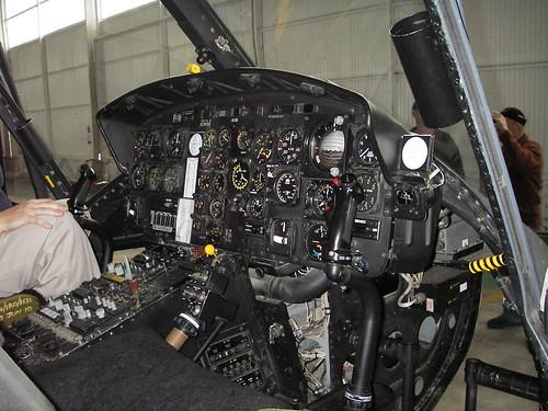 Ohakea - The venerable Huey cockpit