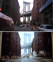 Once Upon A Time In America - Brooklyn Bridge (GazTruman) Tags: new york city nyc bridge usa newyork film set brooklyn america movie time manhattan brooklynbridge manhattanbridge once filming upon locations reinactment onceuponatimeinamerica filminglocations ouatim