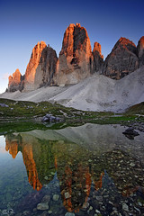 Soulful Emotion (Marco Dian - www.marcodian.com) Tags: sunset italy reflection nature canon landscape eos 350d italia tramonto sigma natura filters tre riflessi paesaggio dolomites dolomiti graduated density longa cime neutral dolomiten cokin sesto gr