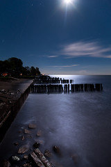 K7__2917 (Bob West) Tags: longexposure nightphotography moon ontario beach night lakeerie greatlakes fullmoon clear moonlight nightshots k7 southwestontario bobwest pentax1224 oldretainingwall