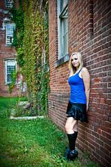 IMG_2237-edit1 (Bret McGonigle) Tags: blue urban black building abandoned fashion canon eos rebel model photoshoot boots decay no skirt casual kimberly damaged milledgeville trespassing xti 400d centralstatehospital georgialunaticasylum canonefs1585mmf3556isusm