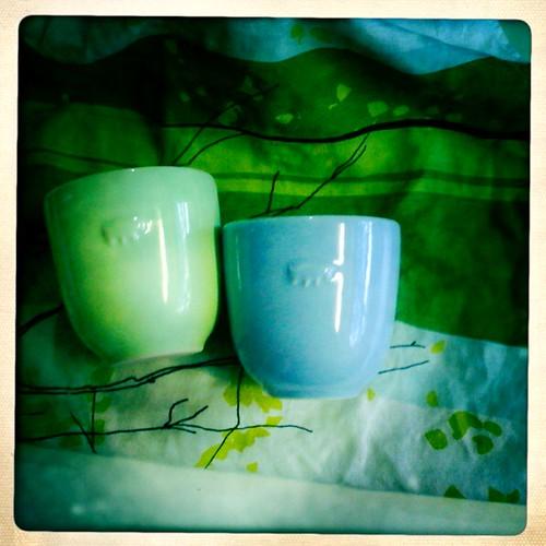 Bison tea bowls