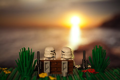 Romantic Stormtroopers (Prozac74) Tags: sunset sea sky sun flower water composite starwars interestingness lego rifle fake sunsets kitsch calm explore stormtrooper romantic bizzare warmtones deleteit saveit saveit2 deleteit2 saveit3 saveit4 saveit5 saveit6 saveit8 saveit9 canonef100mmf28macrousm activeassignmentweekly bestofweek1 canoneos5dmarkii