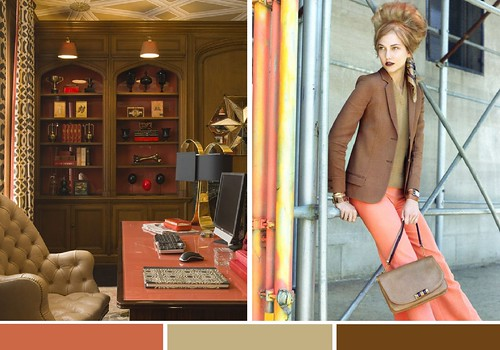 fall pallette inspiration coral taupe caramel