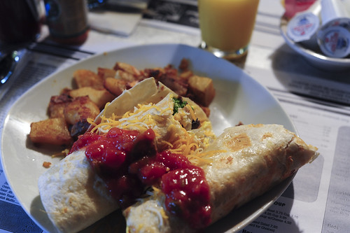Breakfast Burrito with Home Fries