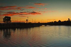 Just another evening (for my friend Artie I Photography) (saahmadbulbul) Tags: sunset landscape australia melbourne rippels footscray maribyrnong seddon
