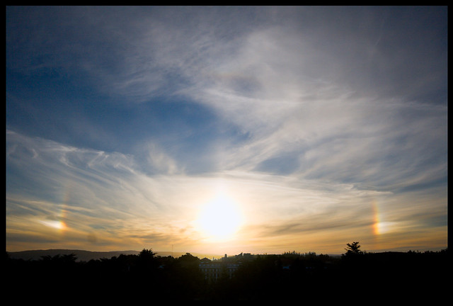 sundogs and upper tangent arc