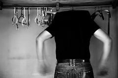 Hung (Haciendo clack) Tags: blackandwhite espaa blancoynegro digital reflex spain europa europe bn valladolid hung 2010 colgado armario castillaylen perchas canonef24105mmf4lisusm haciendoclack jessgonzlez 5dmarkii canon5dmarkii