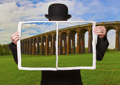 Magritte (juliereynoldsphotography) Tags: surreal magritte viaduct elements