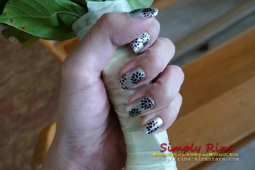 Nail Art Silver Lining 04