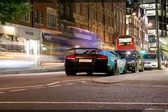 Lamborghini Murcielago SV (KuleliDesign) Tags: street blue england london cars car lights aqua traffic super harrods exotic arab owned lamborghini supercar sv spotting photgraphy exotics supercars murcielago sloane ckk veloce spotter lp670 kulelidesign