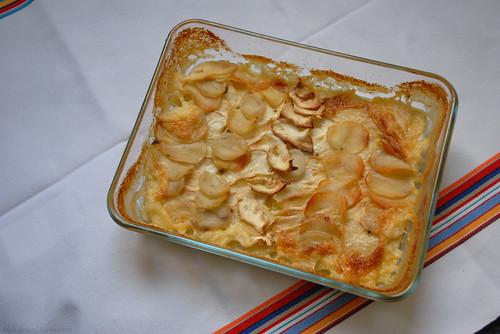 Celery and potato gratin