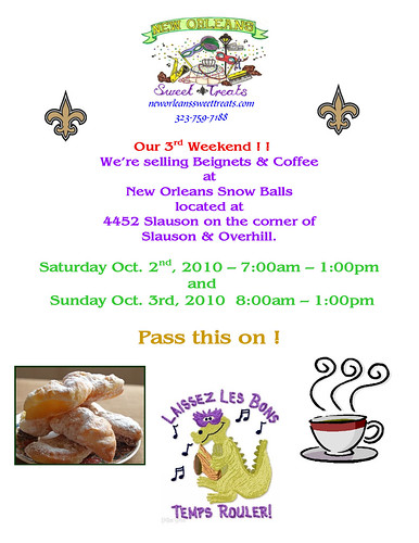 Flyer for Beignets & Coffee-1
