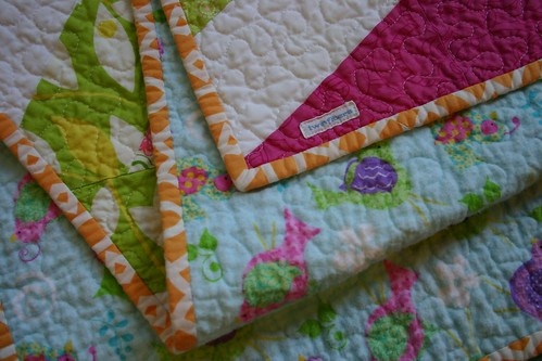Diamond Chain Quilt - binding