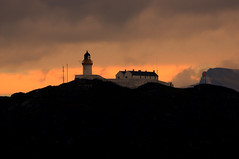 Rona lighthouse on a misty autumn morning (iancowe) Tags: lighthouse skye silhouette island south stevenson sound isle quiraing rona raasay supershot isleofrona southrona wbnawgbsct