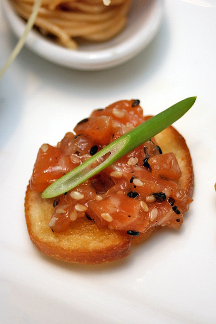 """Salmon Tartare Sandwich"" by Samia Ahad"