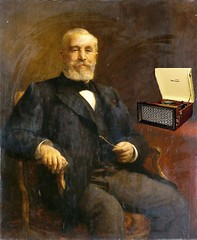 President Loubet of France Listening to His Phonograph, after Fernand Cormon