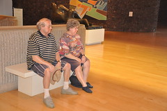 Duane Hanson Statues (sfPhotocraft) Tags: usa art museum bench statues socal artmuseum oldpeople hanson realism 2010 duanehanson palmspringsartmuseum