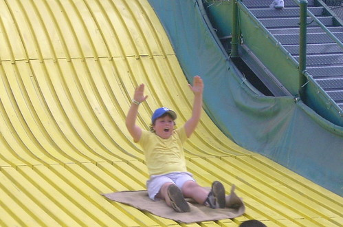 Liam on giant slide cropped