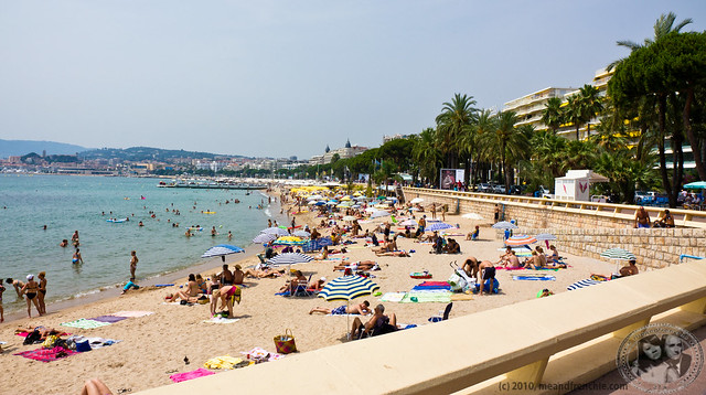 Beach In Cannes Along The Croisette