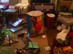 Post party debris