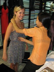 Hoi An - Ash Getting Fitted for Her Gorgeous White Coat