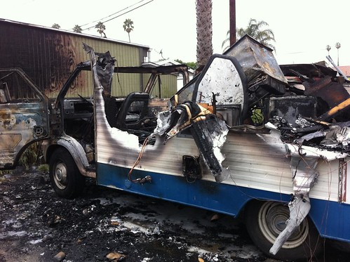 RV Fire Venice Beach